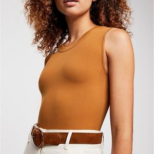 Free People Cropped Muscle Tee